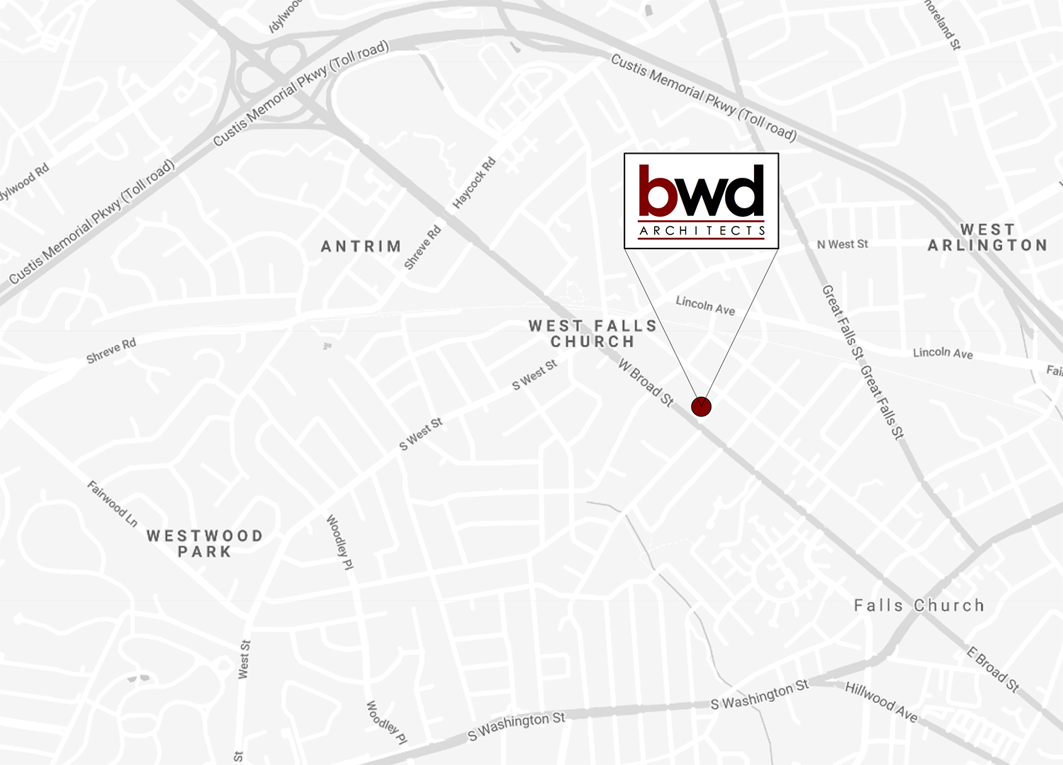 BWD Architects map